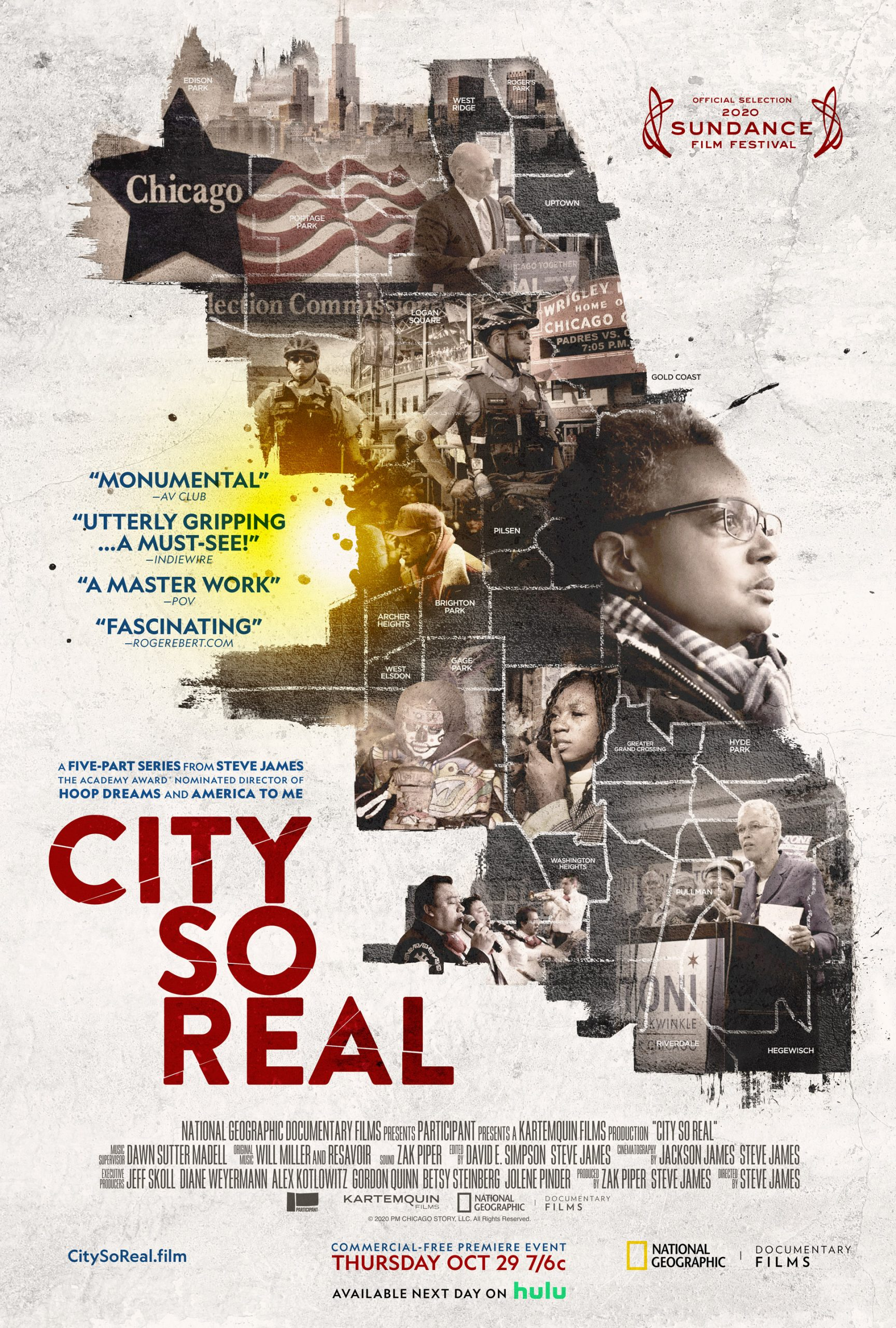 National Geographic to Broadcast Five-Part Critically Acclaimed Series 'City So Real' From Academy Award®-Nominated Filmmaker Steve James in an Unprecedented One-Night, Five-Hour, Commercial-Free Event