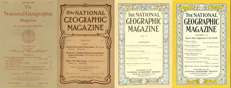 picture of National Geographic magazines