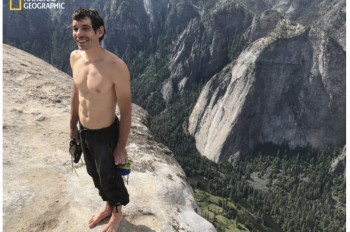 Rock Climber Alex Honnold Completes Daring 3,000-foot Rope-free Climb of Yosemite's El Capitan, the Highest, Most Dangerous Rock-climbing Route Ever Attempted