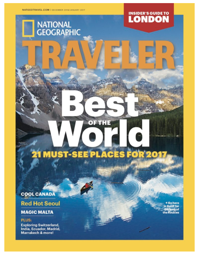 Picture of Nat Geo Traveler magazine cover