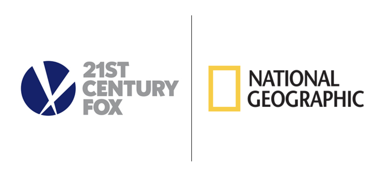 Picture of Nat Geo logo and 21st Century Fox