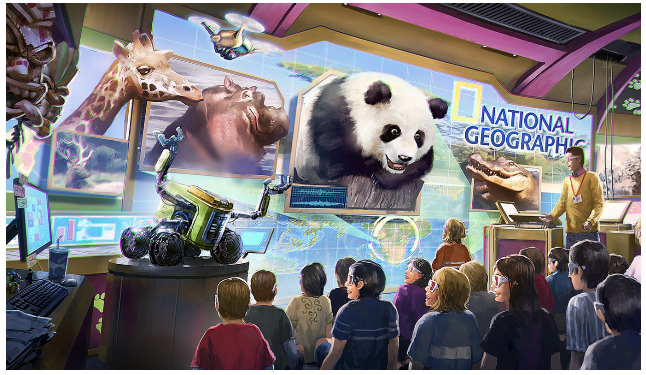 Picture of Nat Geo and iP2Entertainment exploration center drawing