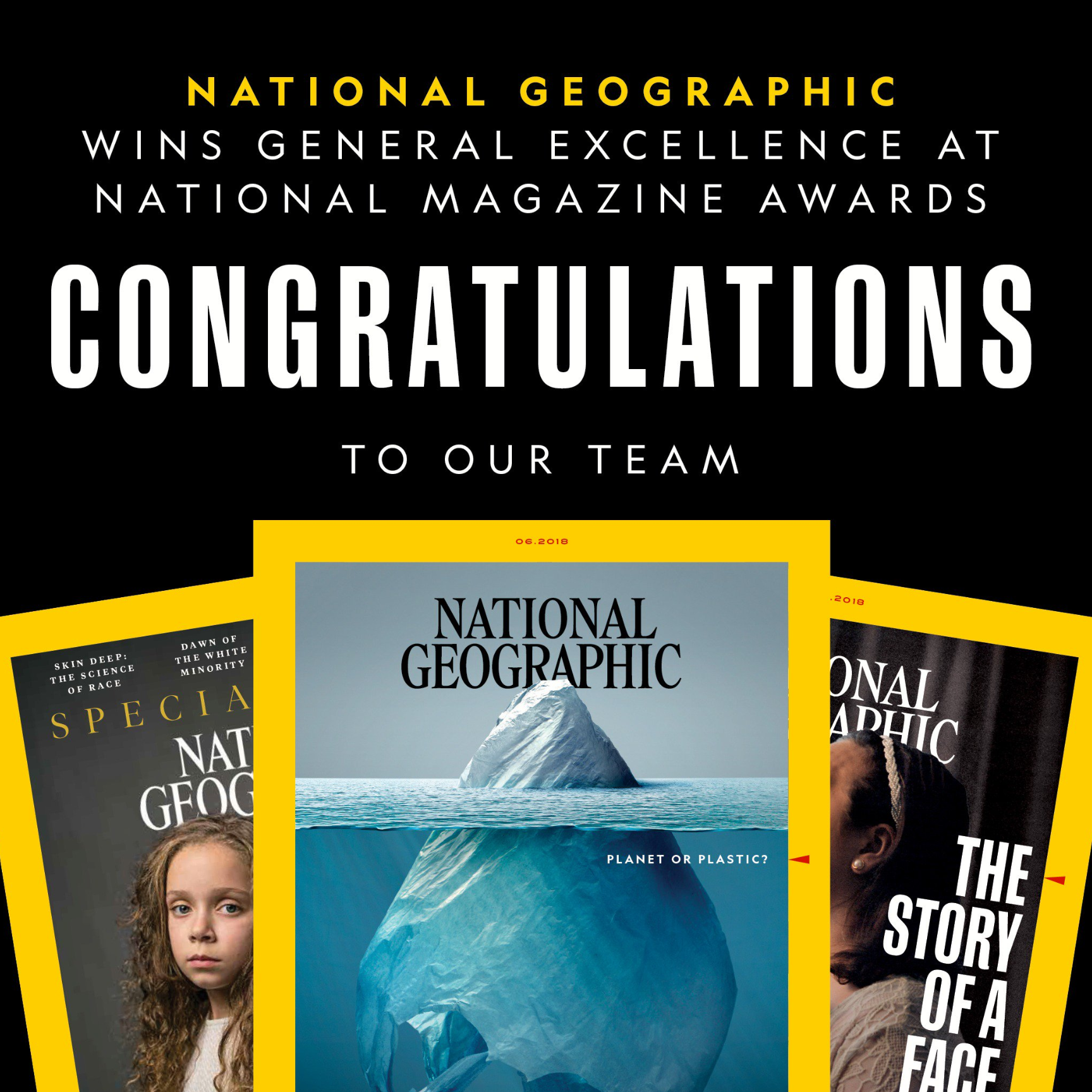 Photo of Nat Geo Wins General Excellence Graphic