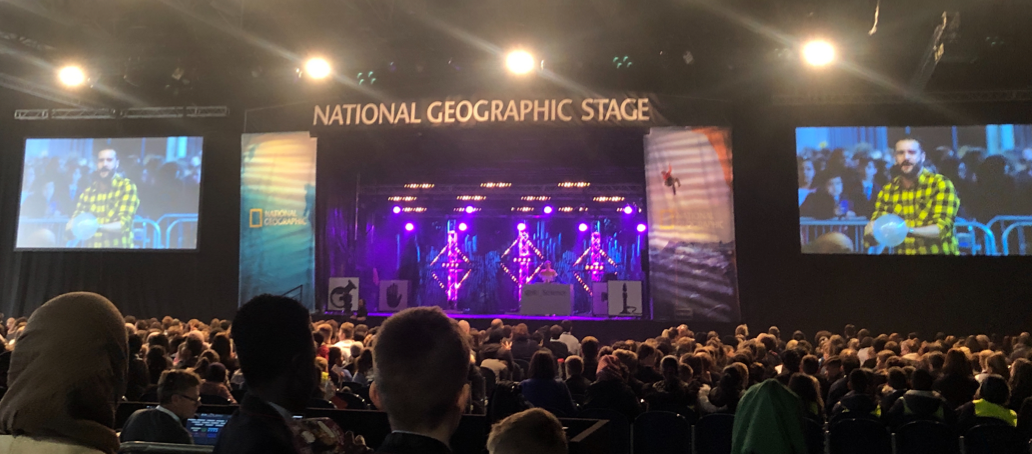 Photo of The Main Stage at The Big Bang Science Fair.