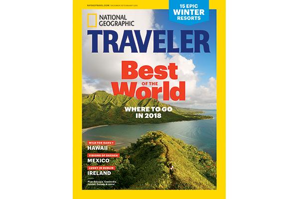 picture of Traveler magazine Dec 2017/Jan 2018 cover